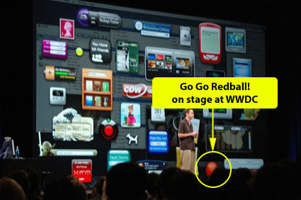 Go Go Redball on Stage at WWDC